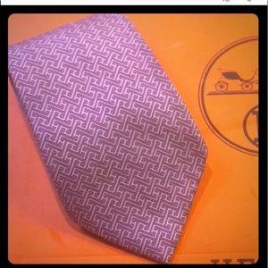 Authentic HERMES silk H tie/original shopping bag